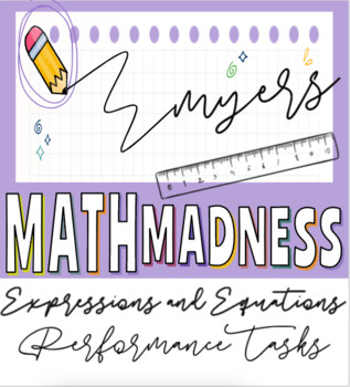 Expressions & Equations Performance Tasks