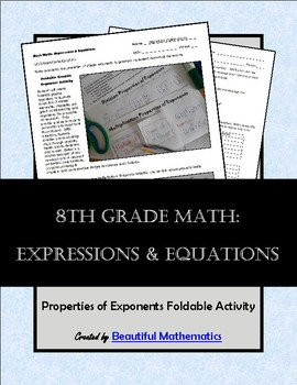 Expressions & Equations: Properties of Exponents