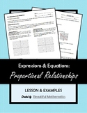 Expressions & Equations: Proportional Relationships