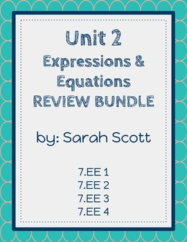 Expressions & Equations REVIEW BUNDLE