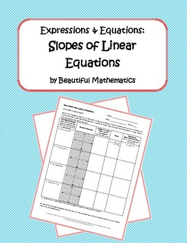 Expressions & Equations: Slopes of Linear Equations