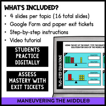 Expressions & Equations - Supplemental Digital Math Activities for Google Slides