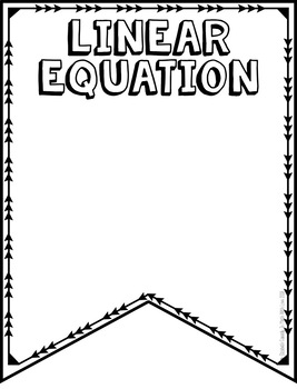 Expressions & Equations Vocabulary 8th Grade -DIY Pennant Banner