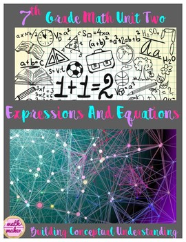 Expressions, Equations, and Inequalities 7th Grd ~ 50 Page Workbook