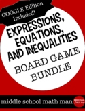 Expressions, Equations, and Inequalities Board Game Bundle