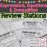 Expressions, Equations and Inequalities Review Stations