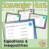 Equations and Inequalities Scavenger Hunt (Algebra 2 - Unit 1)