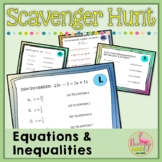 Expressions Equations Inequalities Scavenger Hunt (Algebra