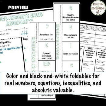 Expressions Equations and Inequalities Algebra 2 Curriculum Unit 1