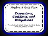 Expressions, Equations and Inequalities Unit