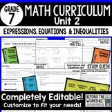 Expressions, Equations and Inequalities Unit : 7th Grade Math
