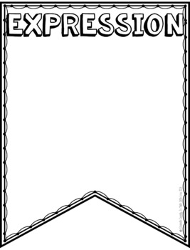 Expressions, Equations, and Inequalities Vocabulary -DIY Pennants