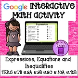 Expressions, Equations and Inequalities (one-step, one variable only) GOOGLE