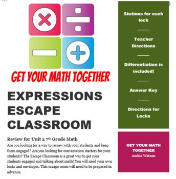 Expressions Escape Classroom