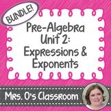 Expressions/Exponents Unit Bundle Notes, Homework, Quizzes