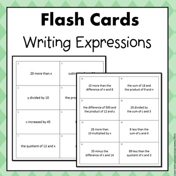 Expressions Flash Cards Bundle