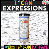 6th Grade Evaluating Expressions Game