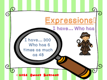 Expressions I Have Who Has