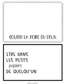 Expressions Idiomatiques - Idiomatic expressions posters