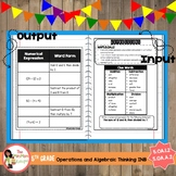 Expressions Interactive Notebook (5.OA.1.2, 5.OA.A.2)