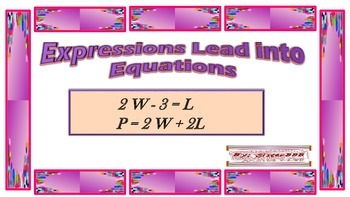 Expressions Lead into Equations
