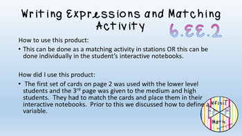 Expressions Matching Activity