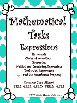 Expressions:  Mathematical Tasks
