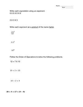 Expressions Mathematics Study Guide