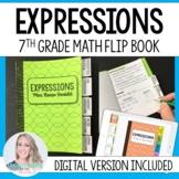 Expressions Mini Tabbed Flip Book for 7th Grade Math