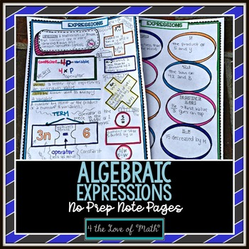 Expressions No Prep Note Pages
