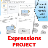 Expressions Project - Combining Like Terms