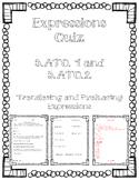 Expressions Quiz