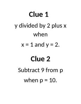 Expressions Riddle