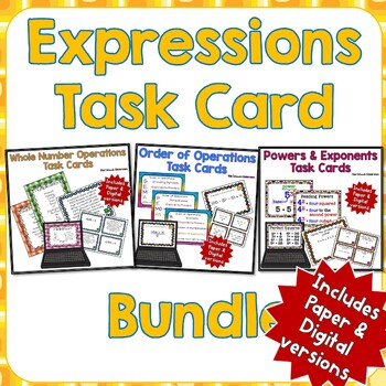 Expressions Task Card Bundle