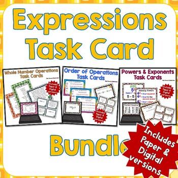 Expressions Task Card Bundle