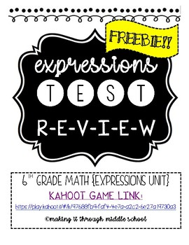 Expressions Test Review {KAHOOT}