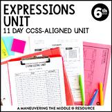 6th Grade Expressions Unit: 6.EE.1, 6.EE.2, 6.EE.3, 6.EE.4