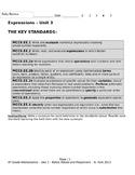 Expressions – Unit 3 - 6th Grade Common Core MCC6.EE.1,2,3,4