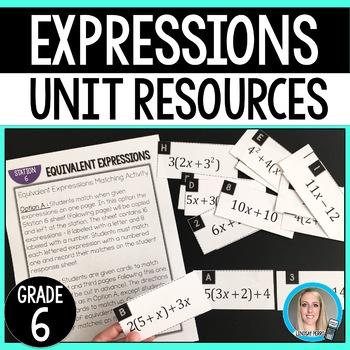 Expressions Unit Resources : 6th Grade