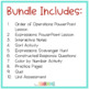 Expressions, Variables, and Order of Operations Bundle {with Interactive Notes}