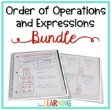 Expressions, Variables, and Order of Operations Unit (with Interactive Notes)