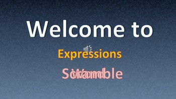 Expressions Word Scramble PowerPoint Game