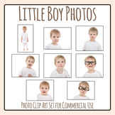 Expressions and Emotions Photos Little Boy Clip Art Set for Commercial Use