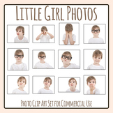 Expressions and Emotions Photos Little Girl Clip Art Set for Commercial Use
