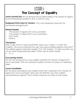 {Grade 2} Expressions and Equality Activity Packet