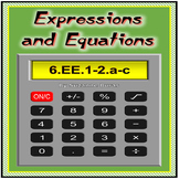 Expressions and Equations: 6.EE.A.1-2.a-c