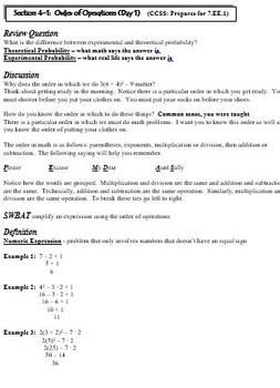 Expressions and Equations: 7th Grade CCSS Pre-Algebra Unit
