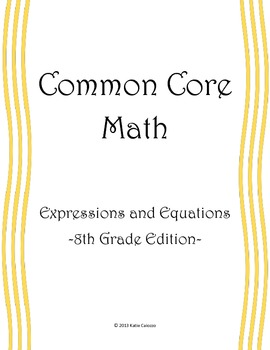 Expressions and Equations - 8th Grade Math CCSS