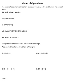 Expressions and Equations Bundle (51 pages)