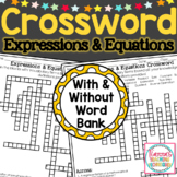 Expressions and Equations Crossword Puzzle